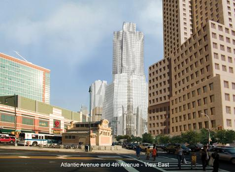 What Atlantic Yards was supposed to look like, when original architect Frank Gehry was on board.