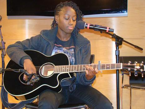 Graduate Radio Rookie, Josetta Adams (singer-songwriter), performs an original song
