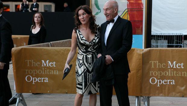 Patrick Stewart arrives at the Metropolitan Opera on opening night