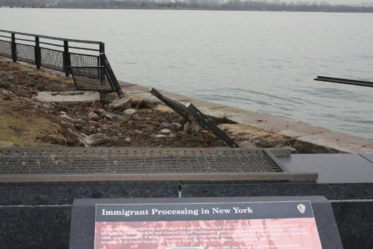 Railings were also damaged by Sandy.