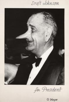 Weegee (Arthur Fellig) (American 1899–1968). Draft Johnson for President