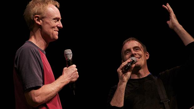 Ted Leo with  John Schaefer, host of WNYC's Soundcheck and New Sounds.