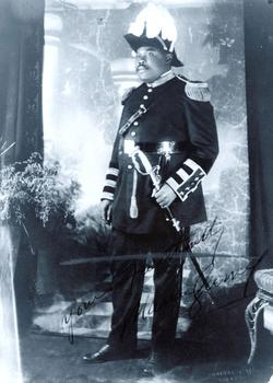 Marcus Garvey in full regalia