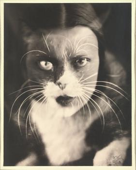 Wanda Wulz (Italian, 1903–1984). Io + gatto (Cat + I)