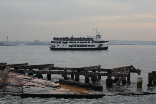 The ferry is the closest many tourists will come to seeing the Statue of Liberty until sometime next year.