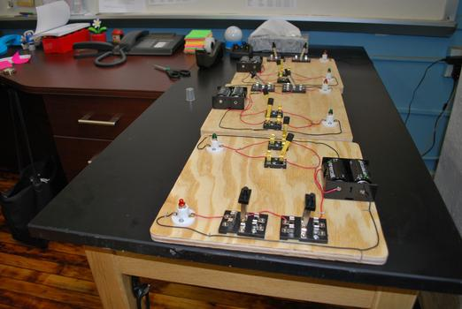Teacher's desk at the Academy for Software Engineering