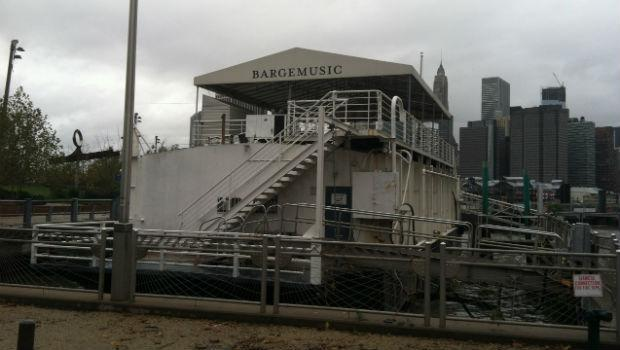 The front entrance to Bargemusic