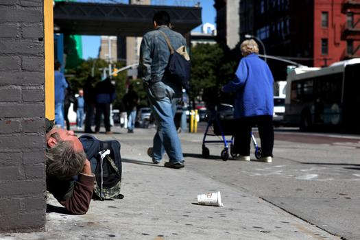 Homelessness is still a part of life in the East Village as it has been for decades.