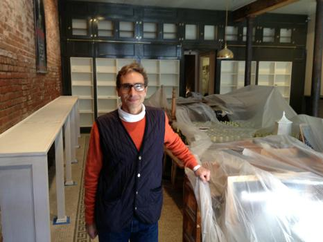 Marco Pasanella of Pasanella and Son, Vintners, began rebuilding immediately after Sandy destroyed his wine shop on the first floor at 115 South Street.