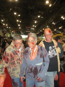 Steve Woods, Terry Keizer, and Bill Heyman each spent about $35 on their zombie costumes.