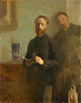 The Vuillard show includes this charming self-portrait of the artist, made when he was 21, in 1889.
