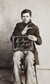 Robert Fryer, Co G 52 NY, Wounded at Hatcher's Run, March 25, 1865.