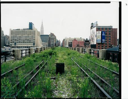 The High Line, a Railroad Artifact, 30th Street, May 2000