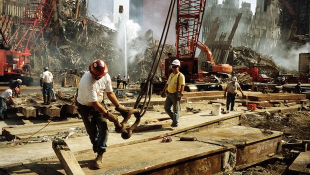 Image from <em>Aftermath,</em> Ironworkers at Ground Zero