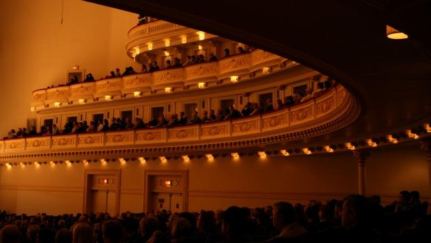 The Carnegie Hall audience for Orpheus Chamber Orchestra's Spring for Music program on Friday, May 6.