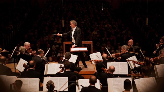 Conductor Franz Welser-Most and the Cleveland Orchestra.