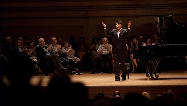 Lang Lang left the stage at intermission with a big smile on his face and even gave a fist pump into the air.