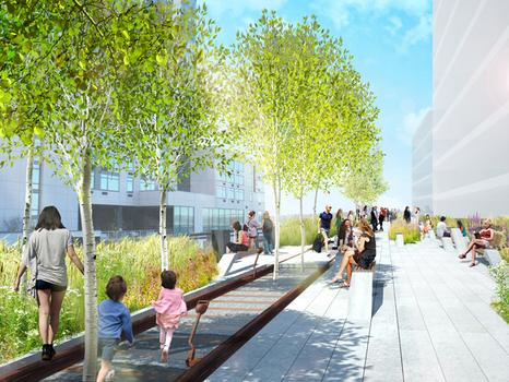 Rendering of proposed design of third section of the High Line.