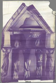 The Met exhibit includes this 1980 collage by Francesca Woodman, titled 'Blueprint for a Temple.'