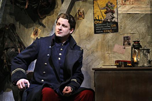 Liam Bonner as Lieutenant Audebert in the Minnesota Opera production of Silent Night