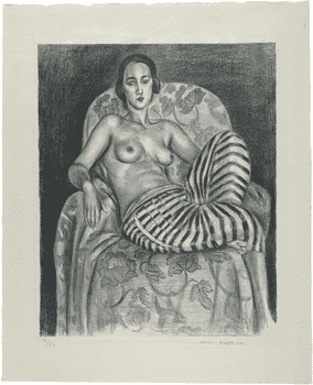 Henri Matisse, <em>Large Odalisque with Striped Pantaloons</em>, 1925.