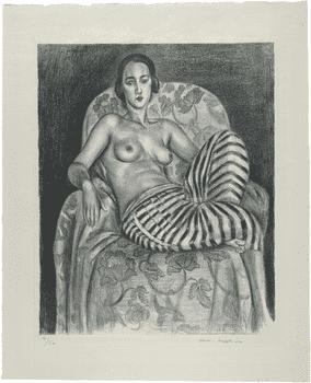 Henri Matisse, <em>Large Odalisque with Striped Pantaloons</em>, 1925.