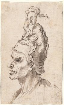 <em>Head of a Man with Little Figures on His Head, c. 1630</em>