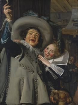 "A small collection of paintings by the masterful Frans Hals are on view at the Met. Shown here: ""Young Man and Woman in an Inn (Yonker Ramp and His Sweetheart),"" from 1623."