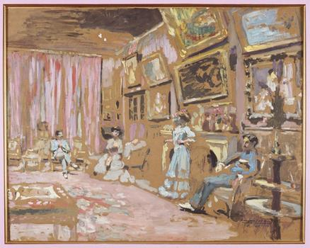 At the Jewish Museum, a look at the portraits and blurry domestic scenes of post-Impressionist Edouard Vuillard. His 1905 oil, 'Messieurs and Mesdames Josse and Gaston Bernheim-Jeune,' is seen above.