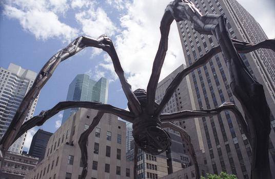 Bourgeois's 30-foot-high sculpture 'Maman,' in Rockefeller Center in 2001.
