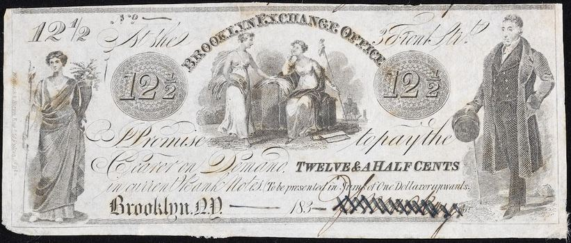 The Corporation of the City of New York 12 1/2 cent note.