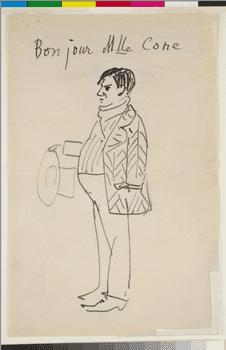 Pablo Picasso, <em>Self-Portrait (Bonjour Mlle Cone)</em>, 1907.