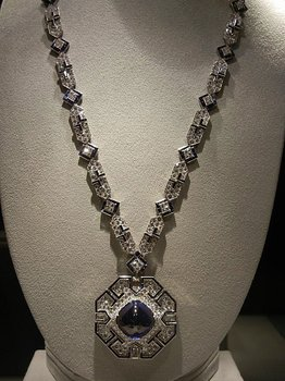 This Art Deco sapphire and diamond sautoir by Bulgari is valued at between $600,000 and $800,000. It was a 40th birthday present from Burton.
