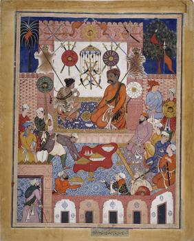 Hamzanama (the Stories of Hamza), Reign of Akbar (1556–1605), ca. 1570 Artist (attributed to) Dasavanta, Artist (attributed to) Mithra. India