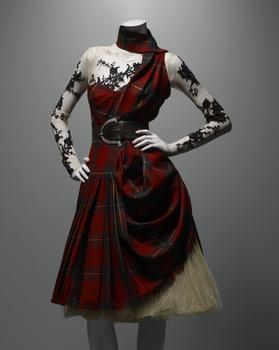 "This work is another ensemble from McQueen's ""Widows of Culloden"" show from autum/winter 2006-07."
