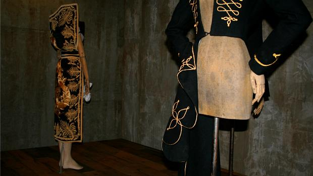 "Part of the show's ""Romantic Mind"" section that shows McQueen's obsession with precise tailoring."