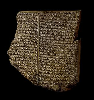 The Flood Tablet, the most famous cuneiform tablet from the ancient Middle East.