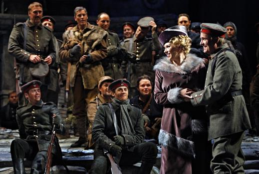 Karin Wolverton as Anna Sørensen and William Burden as Nikolaus Sprink in the Minnesota Opera production of Silent Night