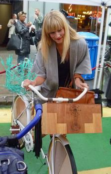 Gretchen Jones designed a bike that could be ridden in high heels.