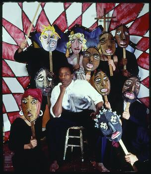 Bill T. Jones (featured) in Last Supper at Uncle To's Cabin/The Promised Land, Bill T. Jones/Amie Zane and Company, 1990. Photo: Jeff Day