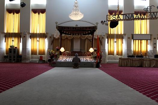 The gurdwara at the Sikh Cultural Center in Richmond, Queens.
