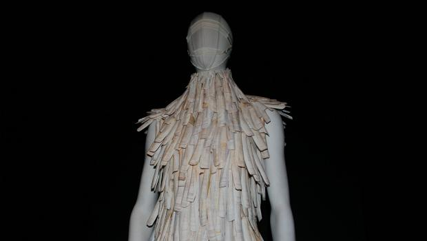 One of two opening pieces at the Alexander McQueen show at the Met's Costume Institute.