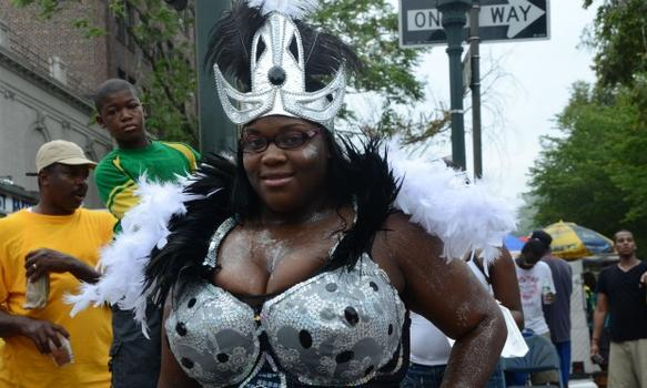 One of the revelers in the 2011 West Indian-American Day Carnival Parade.