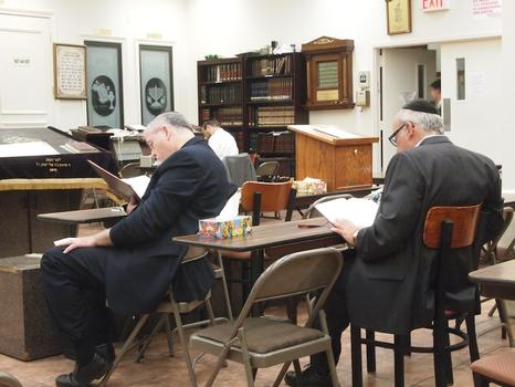 The day before the event, Jewish men in Brooklyn completed the final pages of their Talmud study, a process that took seven and a half years of daily study