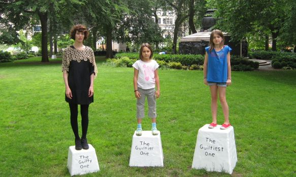 Miranda July with Lily Hupfel, 8 and Georgia Hupfel, 11 as the guilty ones.