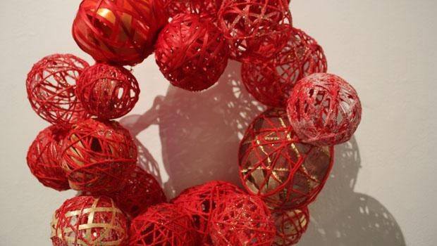 """Holisphere"" by the Grant Unit, Department of Parks and Recreation; ribbon, wire, glue"