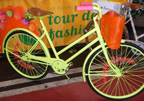 Nanette Lepore's bike is all about the neon.