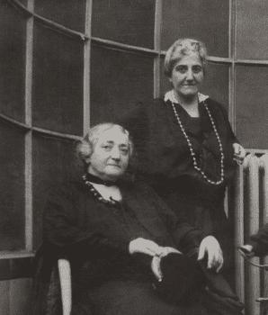 Claribel and Etta Cone in Michael and Sarah Stein's rue de la Tour apartment, Paris, c. 1922–1926.