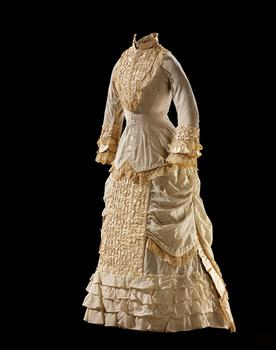 Wedding dress associated with Inshata-Theumba (Susette La Flesche or Bright Eyes, Omaha, 1854–1903)