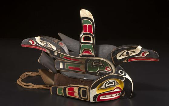 Gikaml (headdress) associated with Hiłamis (Willie Seaweed or Smoky Top, 'Nak'waxda'xw Kwakwaka'wakw, 1873–1967)